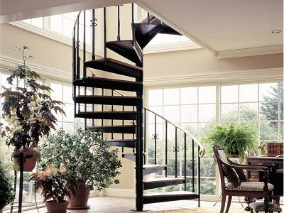 """Floating"" Spiral Staircase"