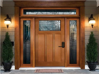 Entry Door with Decorative Glass